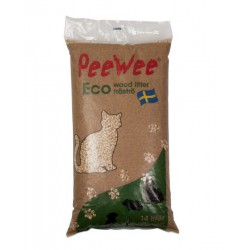 PeeWee kattenbakvulling houtkorrels 14L