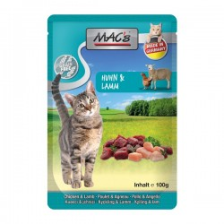 Mac's Cat Pouch Pack Huhn & Lamm 100 g