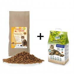 7,5KG Power of Nature Natural Cat Fee's Favorite KIP & 10 l Colsyxat