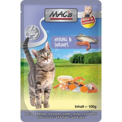 Mac's Cat Pouch Hering & Schrimps 100g