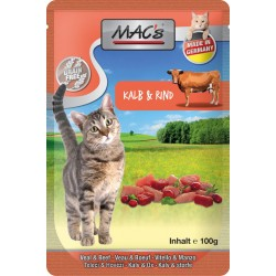 Mac's Cat Pouch Pack Kalb & Rind & Cranberry 100 g