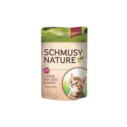 Schmusy Nature Pouch Huhn, Lachs & Pasta 100g